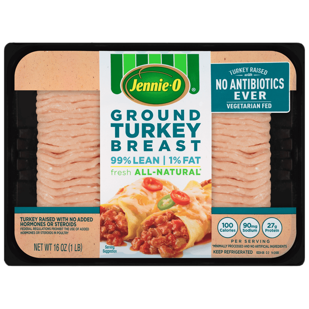 JENNIE-O® Extra Lean Ground Turkey Breast – Raised With No Antibiotics Ever