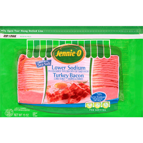 JENNIE-O® Lower Sodium Turkey Bacon made with Sea Salt