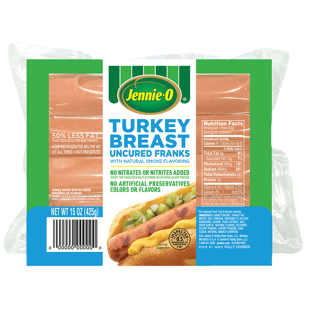 JENNIE-O® Uncured Turkey Breast Franks