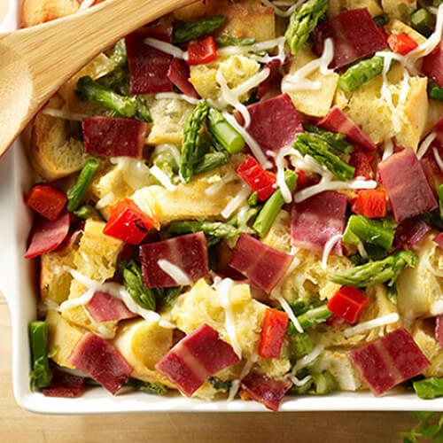 Asparagus & Turkey Bacon Strata
