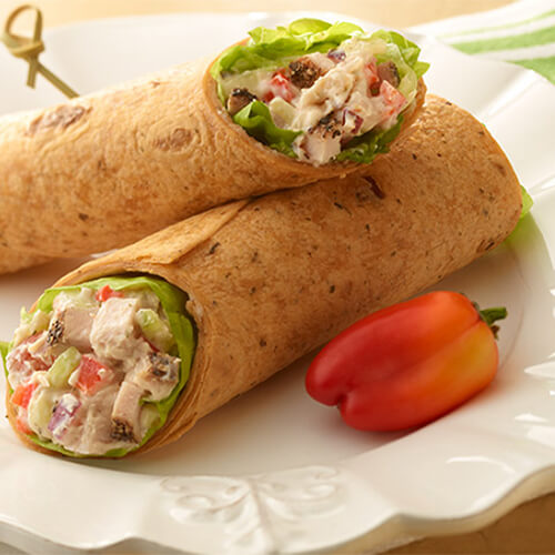 Bell Pepper Turkey Wrap