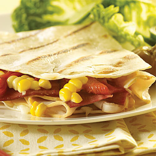 Corn & Turkey Quesadillas