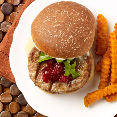 Cranberry Horseradish Turkey Burger
