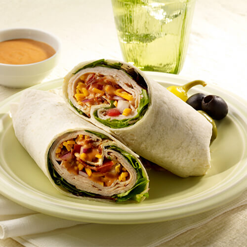 Easy Turkey Club Wrap