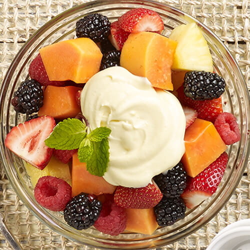 Fresh Fruit with Hazelnut Cream