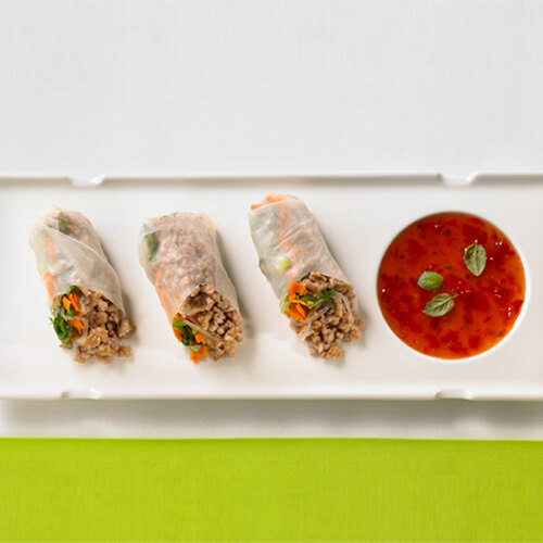 Fresh Turkey Spring Rolls