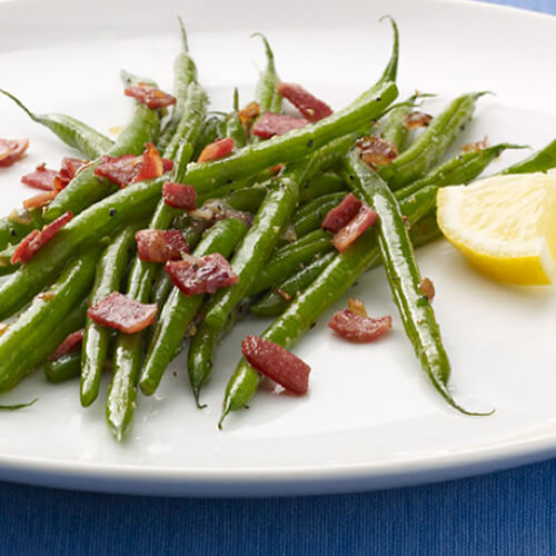 Green Beans & Turkey Bacon