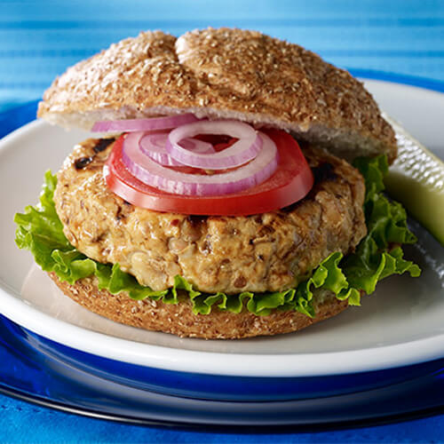 Grilled Barbequed Turkey & Bean Burgers