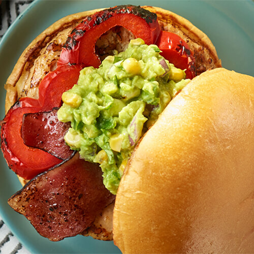 Grilled Corn Guac Turkey Burger