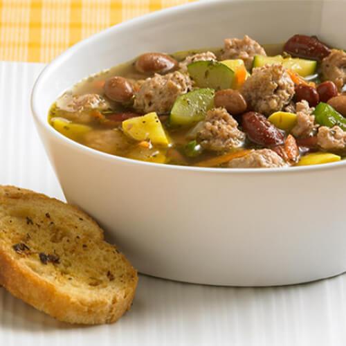 Italian Turkey Minestrone Soup