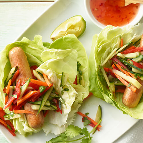Lettuce Wrap Turkey Dogs