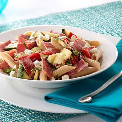 Mediterranean Turkey Bacon & Pasta Salad