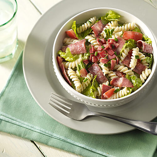 Pasta Salad with Turkey Bacon
