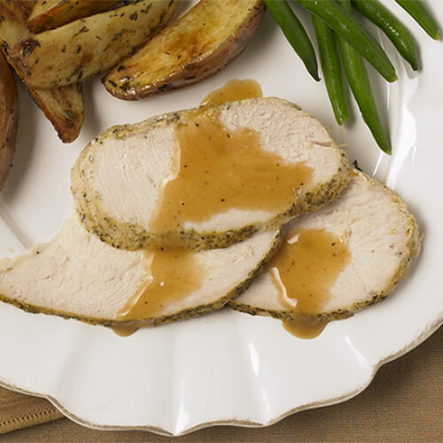 Roast Turkey with Herb Potatoes