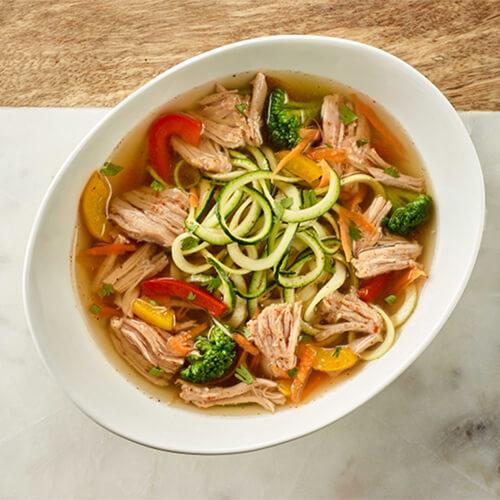 Smoky Turkey & Zucchini Ramen Noodles