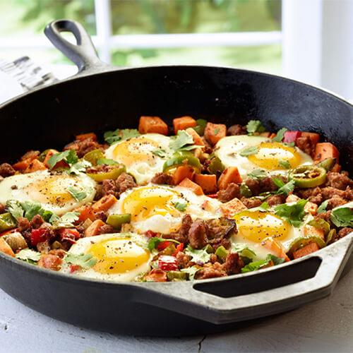 Southwestern Turkey-Sweet Potato Breakfast Hash