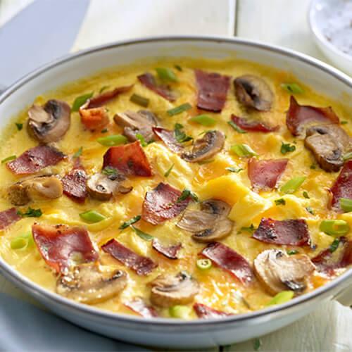 Turkey Bacon & Mushroom Omelet