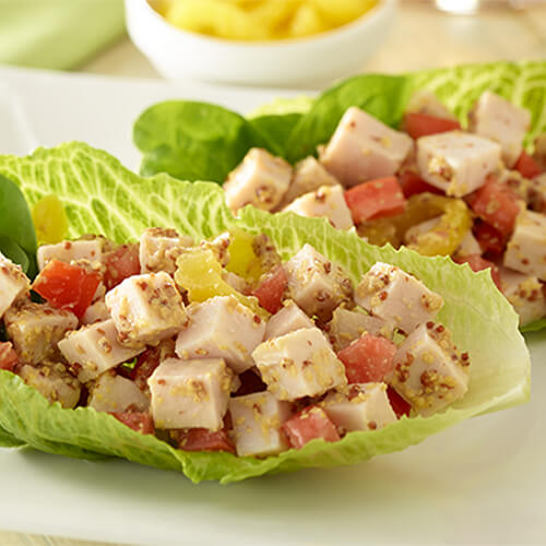 Turkey Lettuce Snack Wraps