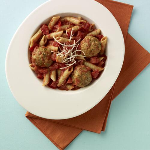 Turkey Meatballs and Pasta