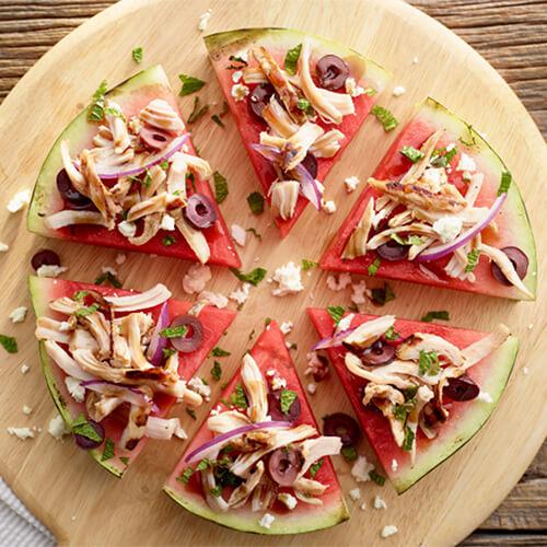 Watermelon Feta Turkey Pizza