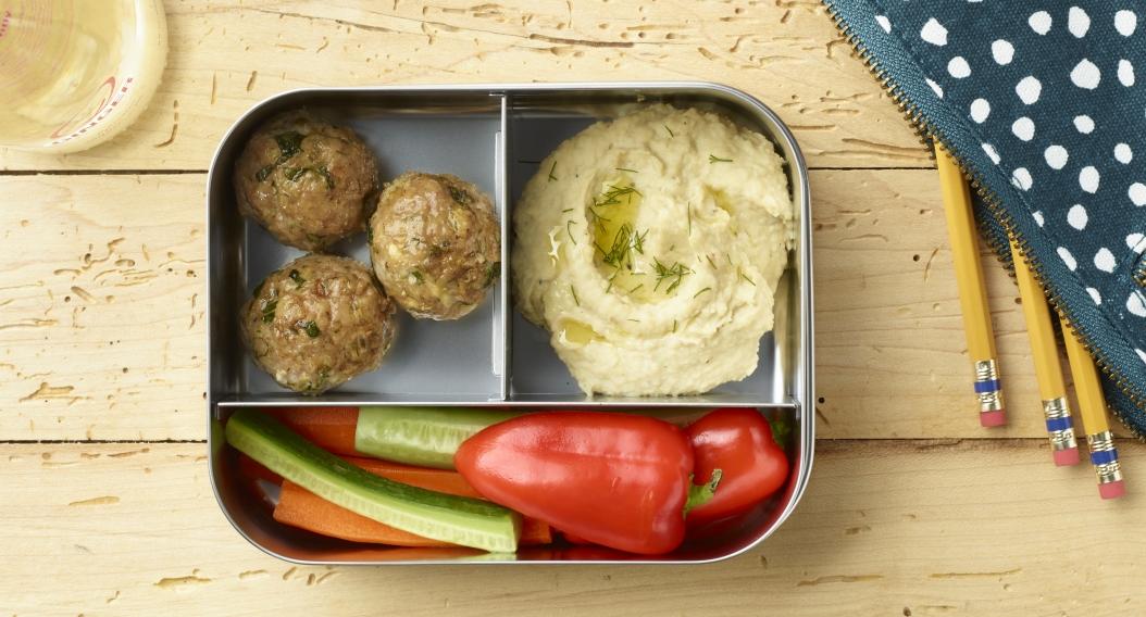 Mediterranean Meatball Bento Box