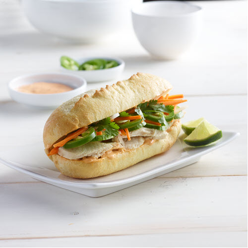 Leftover Turkey Banh Mi