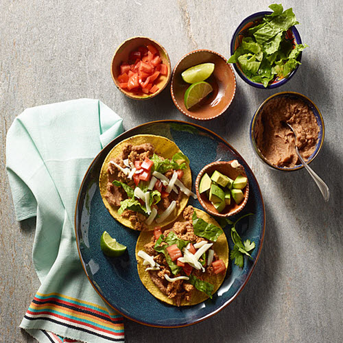 Taco Seasoned Ground Turkey Tostadas