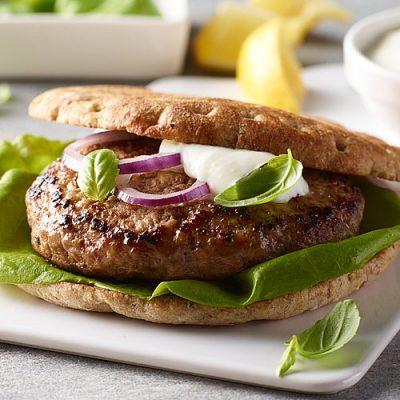 Lemon Basil Turkey Burger